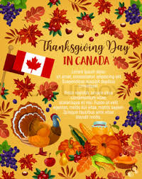 thanksgiving day dinner invitation banners set for canadian