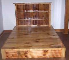 buy hand crafted reclaimed rustic pine platform bed with headboard