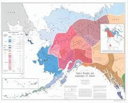 Sitka Alaska Map Map Showing The Distribution Of Alaska Native Languages And