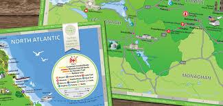Northern Ireland Map Northern Ireland Tourism Map Web Design Graphic Design