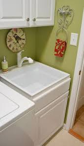 diy utility sink cabinet close out base cabinet purchased at lowe s with a laundry sink