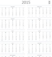 2015 printable calendar one page sheet