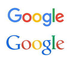 google unveils new flatter logo for the post pc world popular