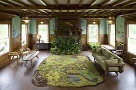 themed living room take a forest atmosphere to your home by decorating the living