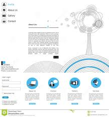minimalistic clean modern vector website design template stock