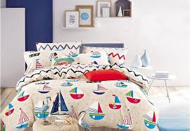 amazon com cliab sailboat bedding full size nautical theme bed