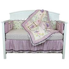 Lavender And Grey Crib Bedding Crib Bedding Set Lavender Flowers Garden Theme Butterfly