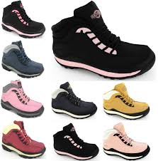 womens work boots womens steel toe cap safety work hiking leather trainers