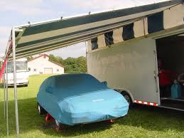 Silver Top Awnings Custom Made Motorsports Trailer Canopies For Sale By Holliday Canopies