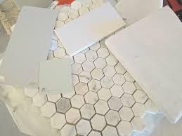 honeycomb tile backsplash home design great creative under home
