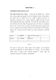 keshav report file on kali sindh thermal power project jhalawar