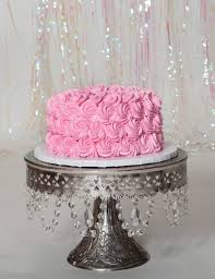 free stock photo of birthday cake cake on a stand pink cake