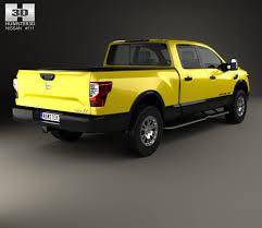 yellow nissan truck nissan titan crew cab xd pro 4x 2016 3d model hum3d