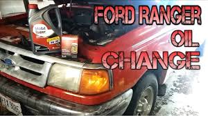 1993 1997 ford ranger oil filter change diy youtube