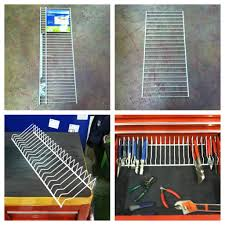 Garage Tool Organizer Rack - build a simple inexpensive 100 customizable aluminum pliers