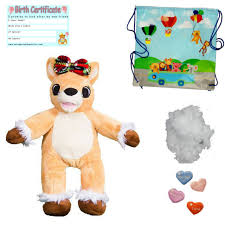 build your own teddy pink christmas reindeer 15 40cm stuff build your own kit no