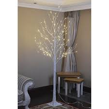 8 foot led christmas tree white lights lightshare 8 foot 132l warm white led birch tree with free 10l led