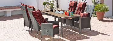 decor miraculous outdoor dinning set design in dark grey wicker