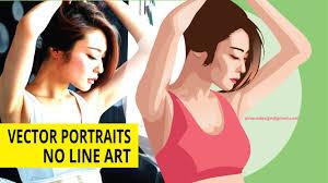 illustrator tutorial vectorize image vector portraits no line art illustrator tutorials youtube