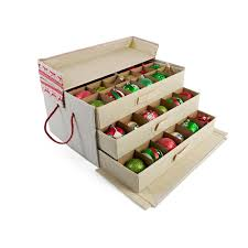 Box Ornament Three Tray Drawer Ornament Storage World