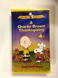 a brown thanksgiving vhs 1999 clamshell vhs