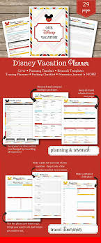 printable disney planning guide printable disney vacation planner package help get organized for