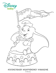 dumbo coloring pages disney baby