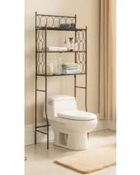 amazing deal kings brand free standing over the toilet shelf