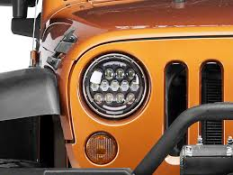 led lights for jeep wrangler raxiom wrangler 7 in 13 led headlights w partial halo j107734 97
