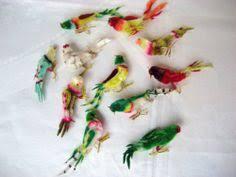 10 vintage chenille bird ornaments diy decorations