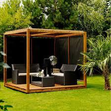 tonnelle de jardin en bois salon de jardin d été en bois pergola cubique en bois proyectos