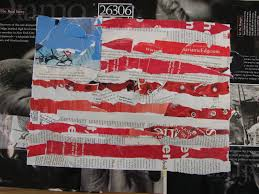 The America Flag Art Dish American Flag Collage