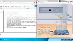 glencoe virtual light lab screencast of solubility virtual lab youtube