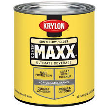 krylon latex canary yellow quart walmart com