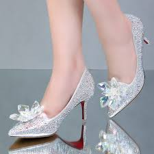wedding shoes harrods cinderella glass pointed high heels bottom women pumps leather