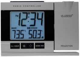Clock That Shines Time On Ceiling by La Crosse Technology Projection Digital Alarm Clock With