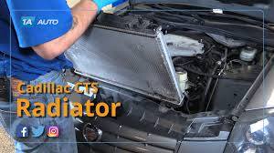 2007 cadillac cts transmission how to replace install radiator 04 06 cadillac cts