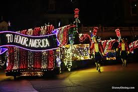 disney world light parade to honor america float and dancers electrical light parade magic