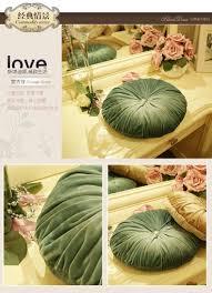 European Home Decor Stores 38cm Elegant Luxury European Velvet Decorative Round Pumpkin Green