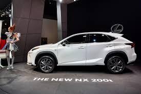 lexus nx suv price paris motor show 2014 lexus nx and rc f