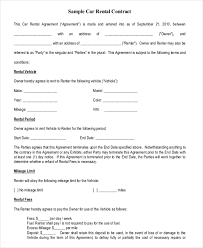 13 car rental agreement templates u2013 free sample example format