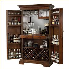 Glass Bar Cabinet Antique Liquor Cabinet Home Bar Liquor Furniture Brown Wooden