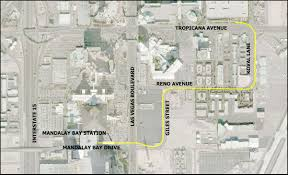 Map Of Las Vegas Strip Hotels by Mandalay Bay Extension Las Vegas Monorail