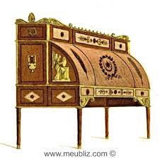 bureau style directoire bureau directoire à cylindre et tiroirs en gradin meuble de style