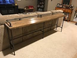 Sofa Table Ideas Metal Pipe U0026 Wood Bar Sofa Table Album On Imgur