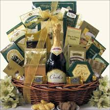 cooking gift baskets best wishes for the new year chagne gift basket swank gift