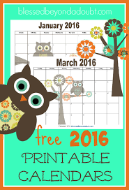 printable monthly planner 2016 free free 2018 monthly printable calendars owl themed printable