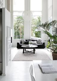 white interior scandinavian modern black and white interior design