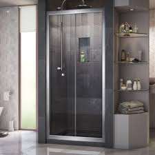 home depot glass shower doors dreamline butterfly 34 in to 35 1 2 in x 72 in framed bi fold