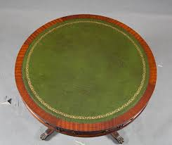 Leather Top Coffee Table Duncan Phyfe Antique Drum Coffee Table